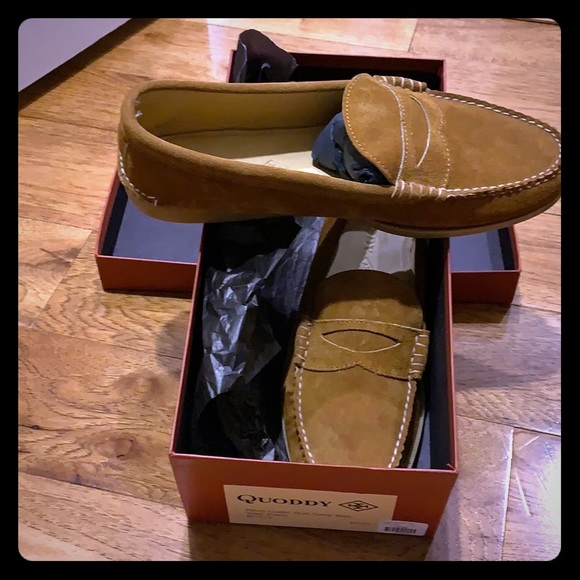 34186e0df6e Men s suede Quoddy penny loafers